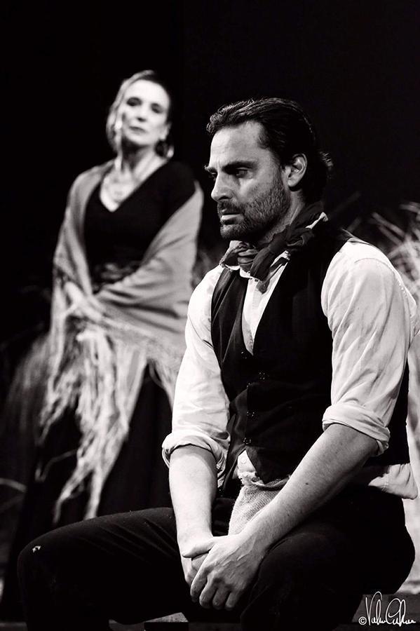 Alessandro Mario con Lina Sastri La Lupa - Alessandro Mario e il Teatro: Giuseppe Patroni Griffi e Lina Sastri